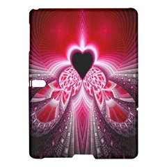 Illuminated Red Hear Red Heart Background With Light Effects Samsung Galaxy Tab S (10 5 ) Hardshell Case
