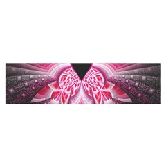Illuminated Red Hear Red Heart Background With Light Effects Satin Scarf (Oblong)