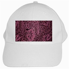 Abstract Purple Background Natural Motive White Cap