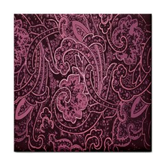 Abstract Purple Background Natural Motive Tile Coasters