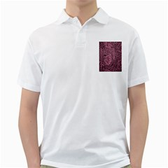 Abstract Purple Background Natural Motive Golf Shirts