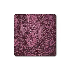 Abstract Purple Background Natural Motive Square Magnet