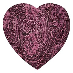 Abstract Purple Background Natural Motive Jigsaw Puzzle (Heart)