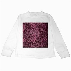 Abstract Purple Background Natural Motive Kids Long Sleeve T-Shirts