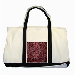Abstract Purple Background Natural Motive Two Tone Tote Bag