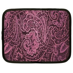 Abstract Purple Background Natural Motive Netbook Case (Large)