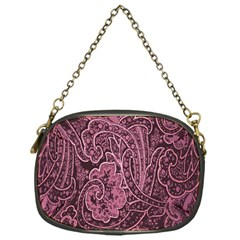 Abstract Purple Background Natural Motive Chain Purses (one Side)