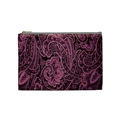 Abstract Purple Background Natural Motive Cosmetic Bag (medium)