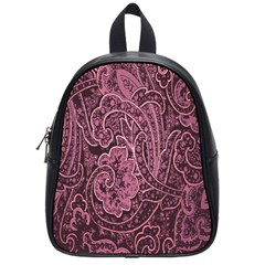 Abstract Purple Background Natural Motive School Bags (small)