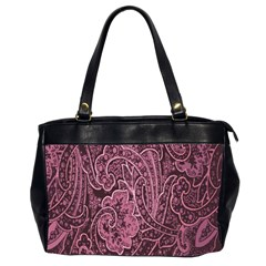Abstract Purple Background Natural Motive Office Handbags (2 Sides)