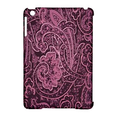 Abstract Purple Background Natural Motive Apple Ipad Mini Hardshell Case (compatible With Smart Cover)