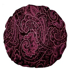 Abstract Purple Background Natural Motive Large 18  Premium Round Cushions