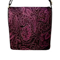Abstract Purple Background Natural Motive Flap Messenger Bag (l)