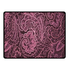 Abstract Purple Background Natural Motive Double Sided Fleece Blanket (small)