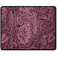 Abstract Purple Background Natural Motive Double Sided Fleece Blanket (Medium)