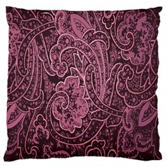 Abstract Purple Background Natural Motive Large Flano Cushion Case (Two Sides)