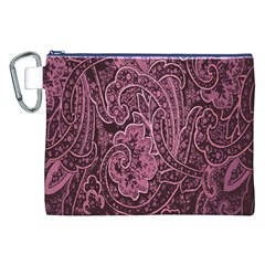 Abstract Purple Background Natural Motive Canvas Cosmetic Bag (XXL)
