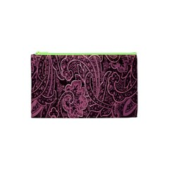 Abstract Purple Background Natural Motive Cosmetic Bag (xs)