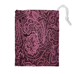 Abstract Purple Background Natural Motive Drawstring Pouches (extra Large)