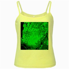Leaf Outline Abstract Yellow Spaghetti Tank