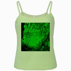 Leaf Outline Abstract Green Spaghetti Tank