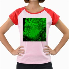 Leaf Outline Abstract Women s Cap Sleeve T Shirt