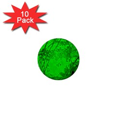 Leaf Outline Abstract 1  Mini Magnet (10 Pack)
