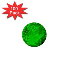 Leaf Outline Abstract 1  Mini Buttons (100 pack)