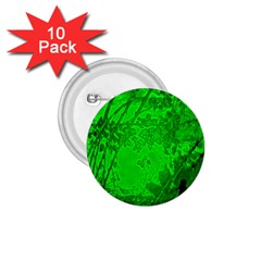 Leaf Outline Abstract 1.75  Buttons (10 pack)