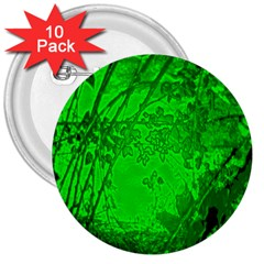 Leaf Outline Abstract 3  Buttons (10 Pack)