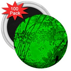 Leaf Outline Abstract 3  Magnets (100 pack)