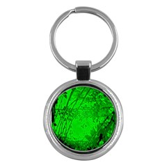 Leaf Outline Abstract Key Chains (Round)