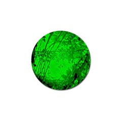 Leaf Outline Abstract Golf Ball Marker (4 Pack)
