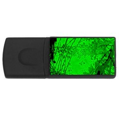 Leaf Outline Abstract USB Flash Drive Rectangular (2 GB)