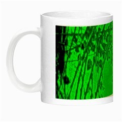 Leaf Outline Abstract Night Luminous Mugs