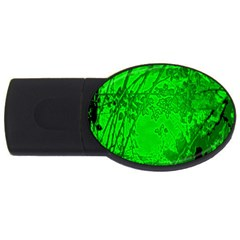 Leaf Outline Abstract USB Flash Drive Oval (4 GB)