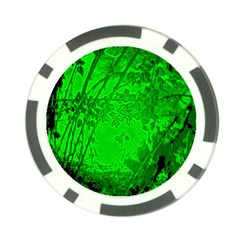 Leaf Outline Abstract Poker Chip Card Guard