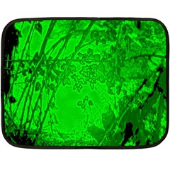 Leaf Outline Abstract Double Sided Fleece Blanket (mini)