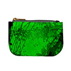 Leaf Outline Abstract Mini Coin Purses