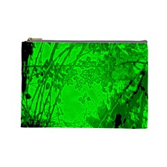 Leaf Outline Abstract Cosmetic Bag (large)