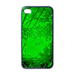 Leaf Outline Abstract Apple Iphone 4 Case (black)