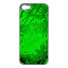 Leaf Outline Abstract Apple iPhone 5 Case (Silver)