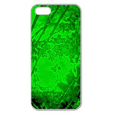 Leaf Outline Abstract Apple Seamless iPhone 5 Case (Clear)