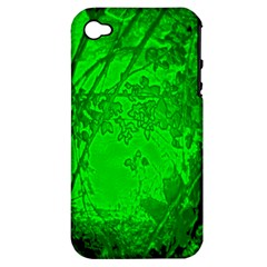 Leaf Outline Abstract Apple iPhone 4/4S Hardshell Case (PC+Silicone)