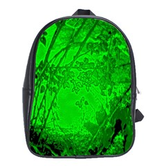 Leaf Outline Abstract School Bags (XL)