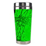 Leaf Outline Abstract Stainless Steel Travel Tumblers Left