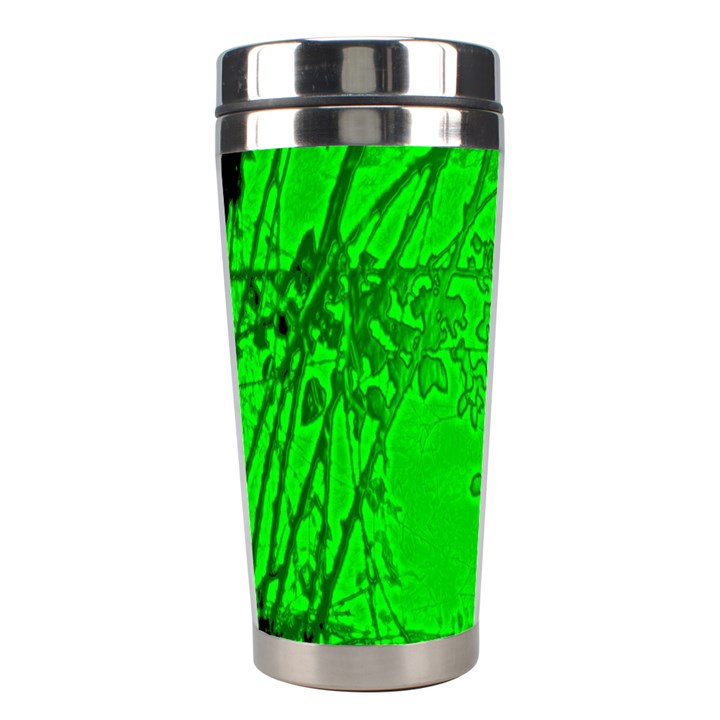 Leaf Outline Abstract Stainless Steel Travel Tumblers
