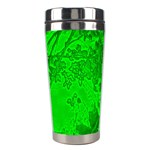 Leaf Outline Abstract Stainless Steel Travel Tumblers Center