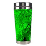 Leaf Outline Abstract Stainless Steel Travel Tumblers Right