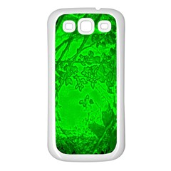 Leaf Outline Abstract Samsung Galaxy S3 Back Case (White)